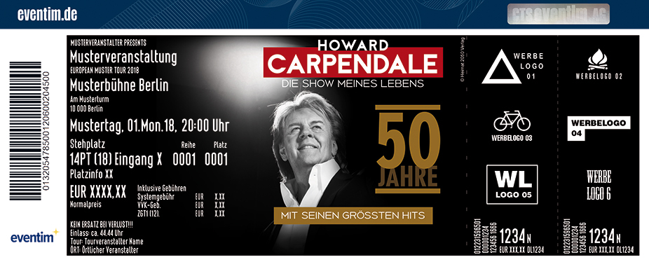 Karten für Howard Carpendale: 50 Jahre - Die Show meines Lebens in Berlin