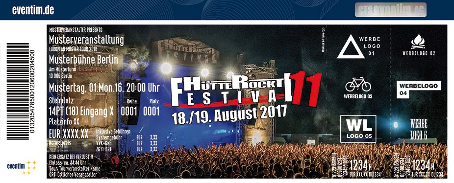 Karten für Hütte Rockt Festival | 18./19. August 2017 in Georgsmarienhütte