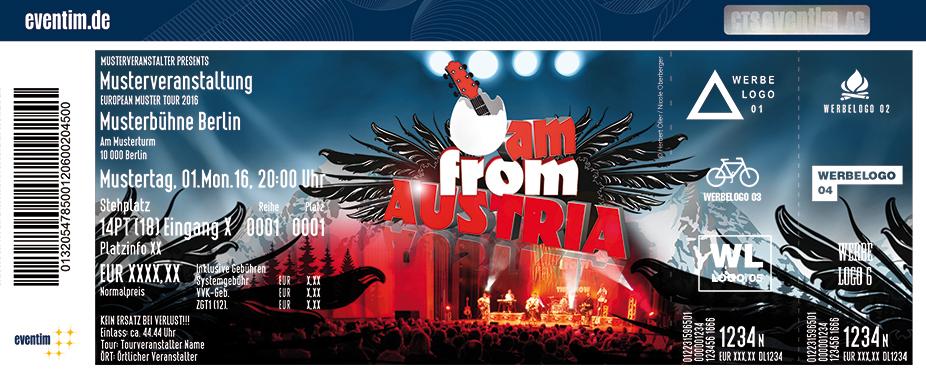 I Am From Austria Karten für ihre Events 2018