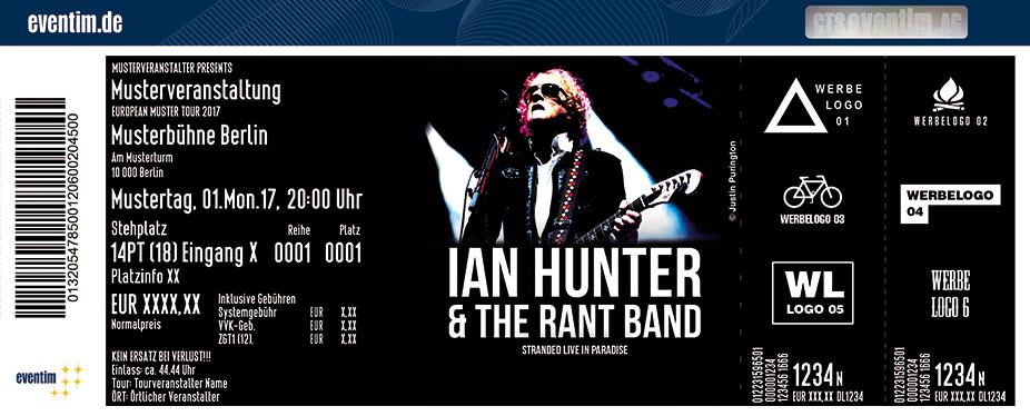 Ian Hunter Karten für ihre Events 2017