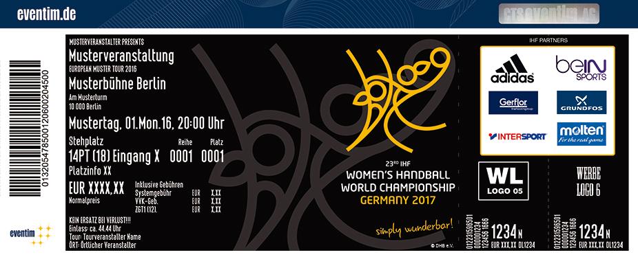 Karten für 2017 IHF Handball Weltmeisterschaft der Frauen - Oldenburg in Oldenburg