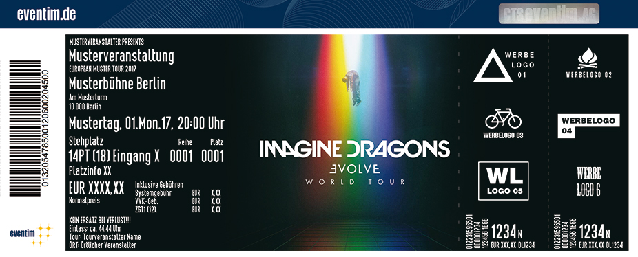 Karten für Imagine Dragons: Evolve World Tour in München