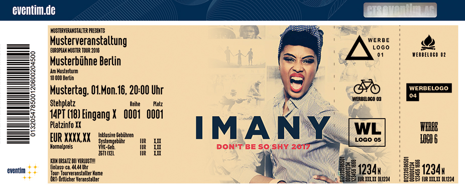 Karten für Imany: Don't Be So Shy 2017 in Mainz