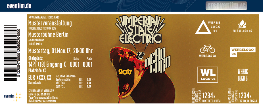 Karten für Imperial State Electric: Master Of Midrange Tour 2017 in Hamburg