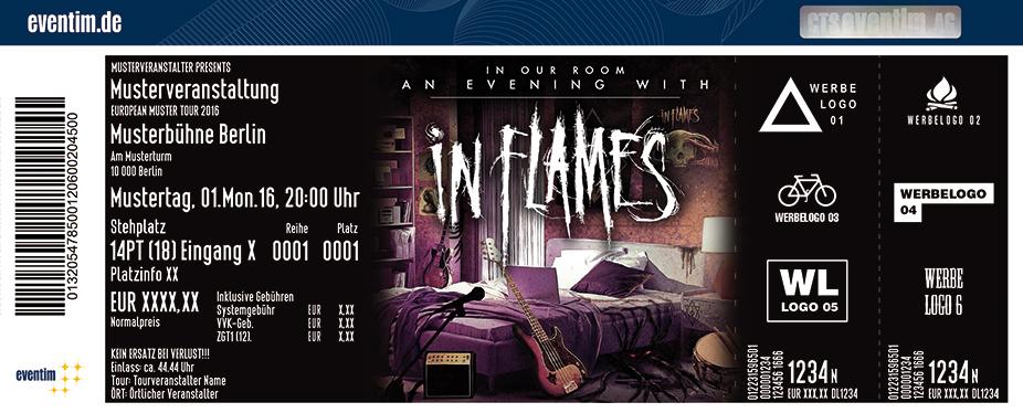 In Flames Karten für ihre Events 2017