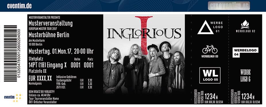 Inglorious Karten für ihre Events 2017