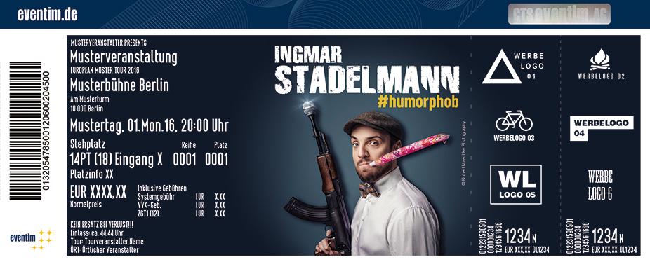 Karten für Ingmar Stadelmann: #humorphob in Hof
