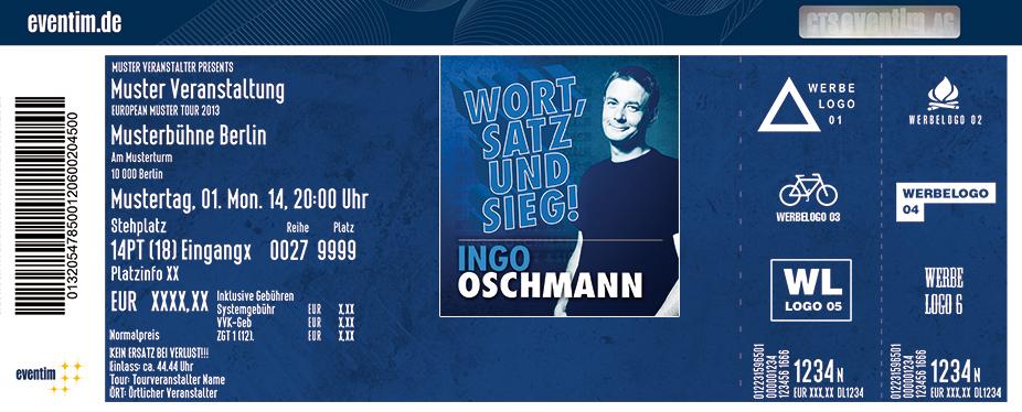 Karten für Ingo Oschmann: Wort, Satz und Sieg! in Mülheim An Der Ruhr