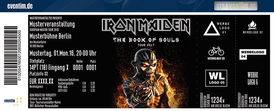 Iron Maiden Karten für ihre Events 2017