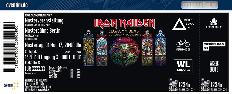 Iron Maiden Karten für ihre Events 2018