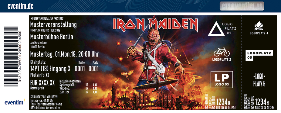Business Seat inkl. Unlimited-Paket - Iron Maiden