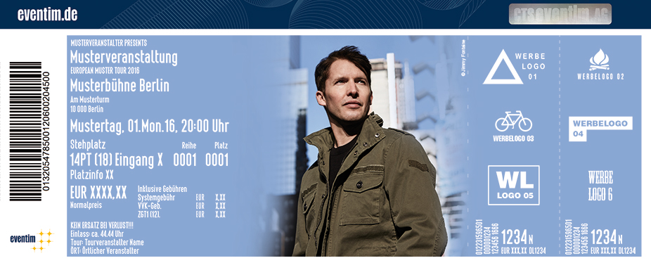 Karten für James Blunt: The Afterlove Tour in Nürnberg