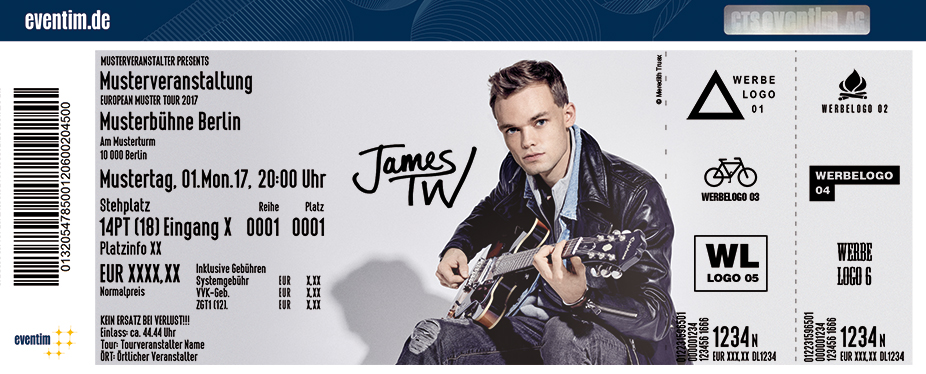 Karten für James TW in Hamburg