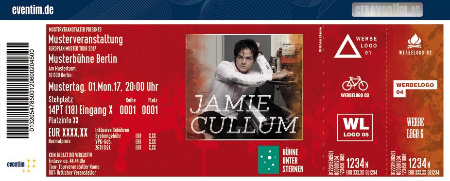 Jamie Cullum Karten für ihre Events 2017