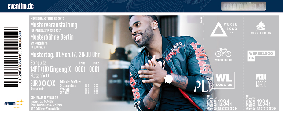 Karten für Jason Derulo: Jason Derulo Presents 777 World Tour in Stuttgart