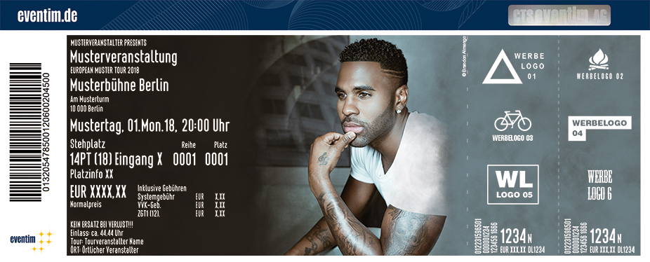Karten für Jason Derulo: Jason Derulo Presents 777 World Tour in Frankfurt