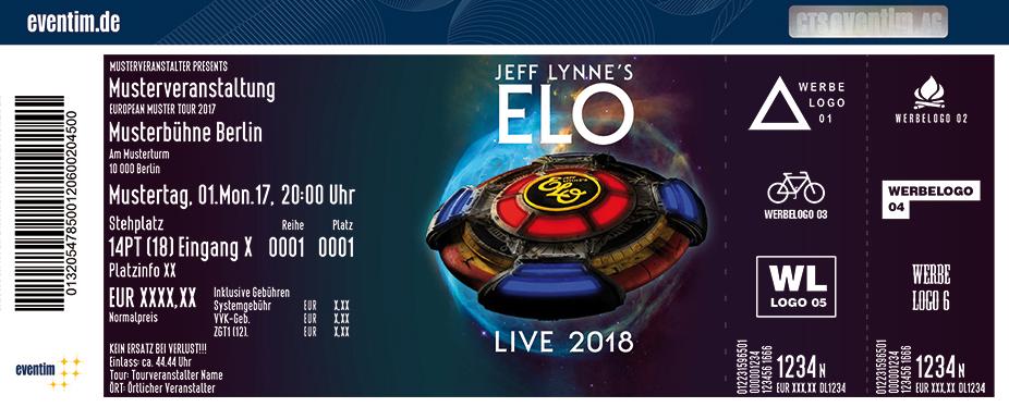 Jeff Lynne's Elo Karten für ihre Events 2018