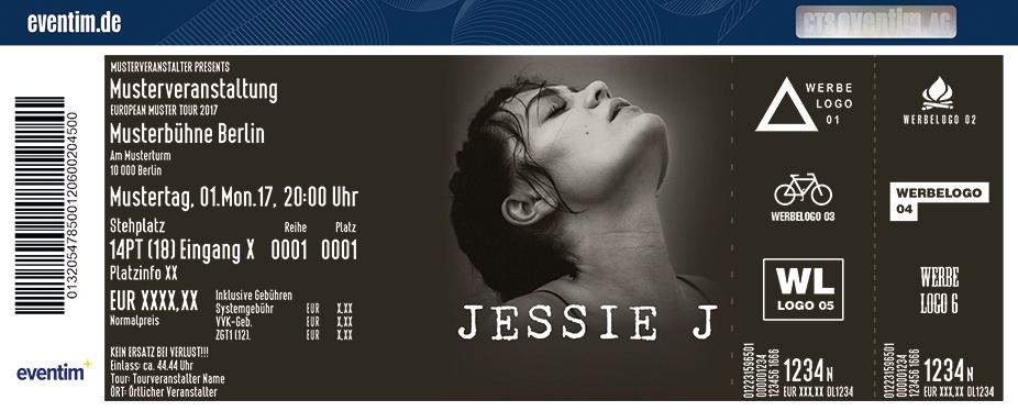 Jessie J Karten für ihre Events 2017