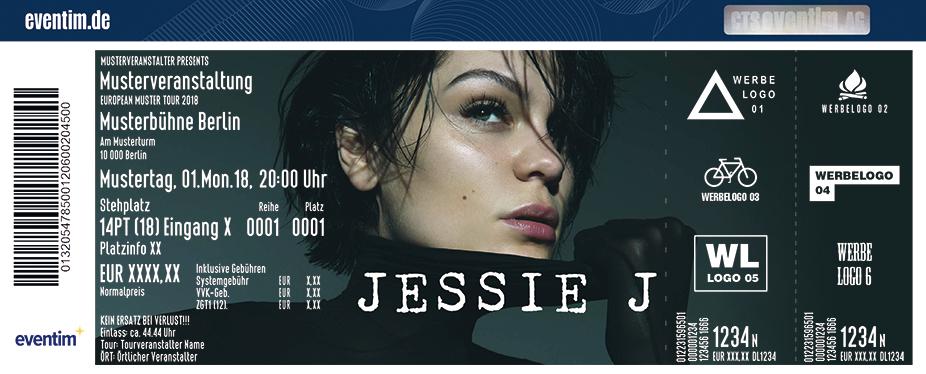 Jessie J Karten für ihre Events 2018