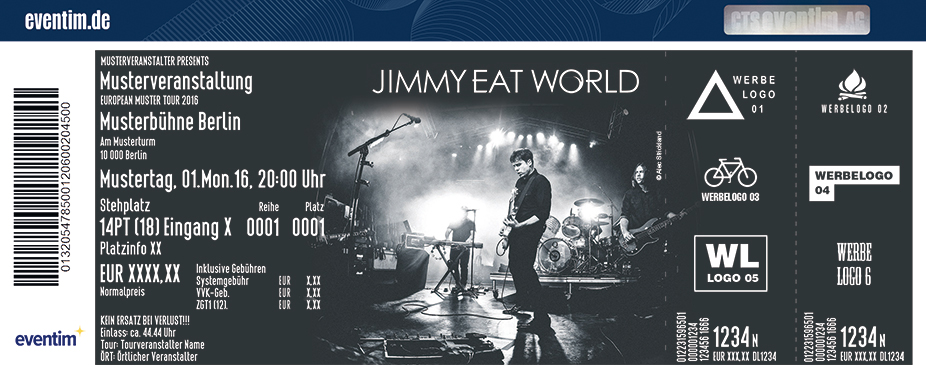 Jimmy Eat World Karten für ihre Events 2017