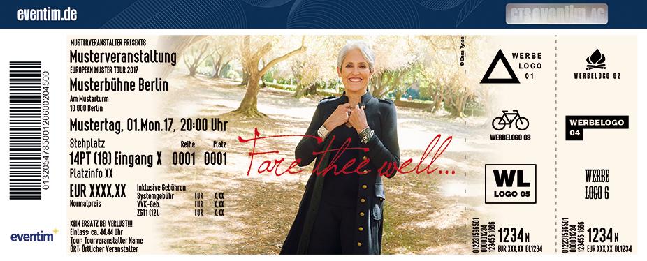Karten für Joan Baez: Fare Thee Well Tour 2018/2019 in Frankfurt / Main