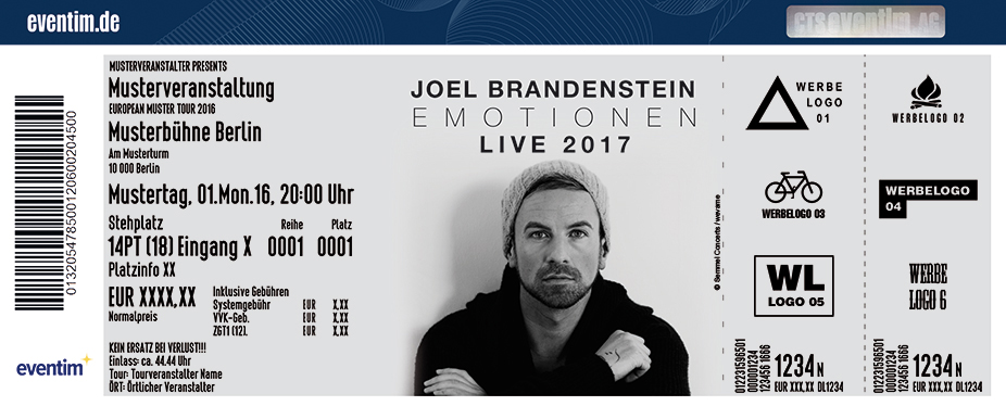 Karten für Joel Brandenstein: Emotionen Live 2017 in Erfurt