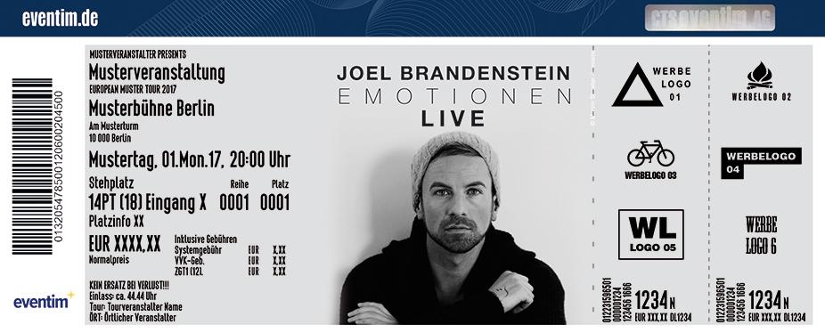 Karten für Joel Brandenstein: Emotionen Live in Stuttgart