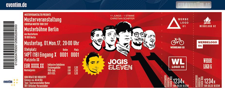Jogis Eleven Karten für ihre Events 2017
