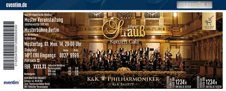 Karten für Das Original - Wiener Johann Strauß Konzert-Gala - K&K Ballett & K&K Philharmoniker in Berlin