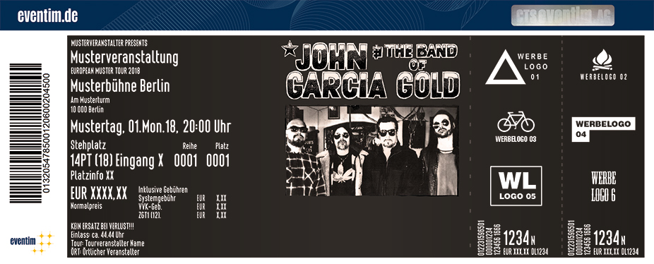 John Garcia Karten für ihre Events 2018
