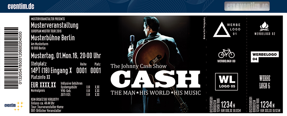 Karten für The Johnny Cash Show - The Man, His World, His Music in Fürth