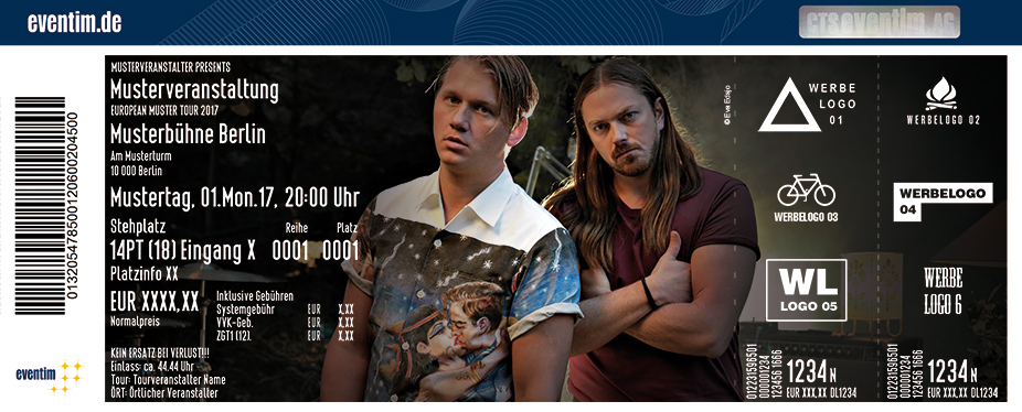 Karten für Johnossi in Rostock