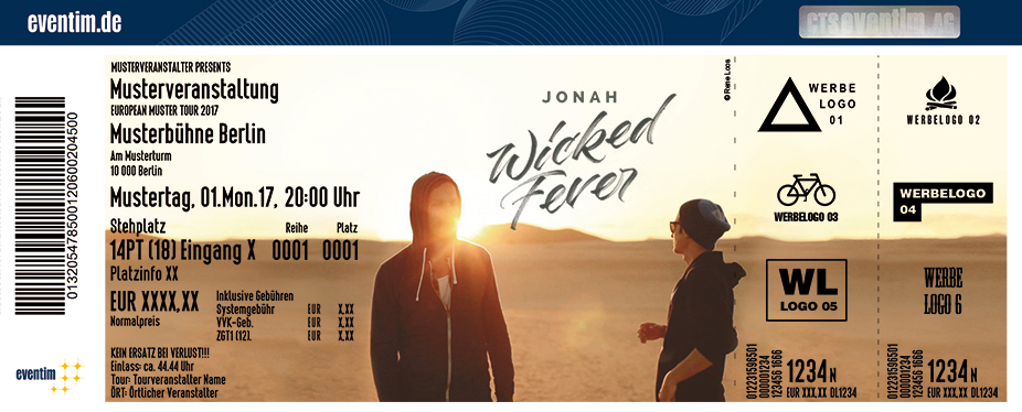 Karten für Jonah: Wicked Fever Tour in Berlin