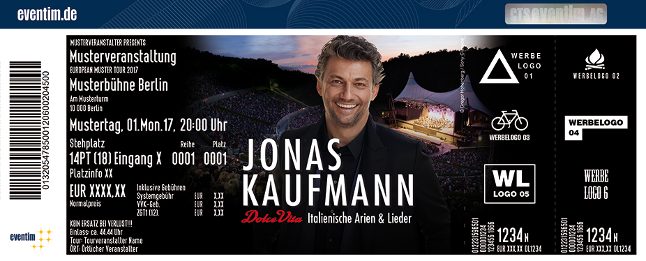 Jonas Kaufmann Karten für ihre Events 2017