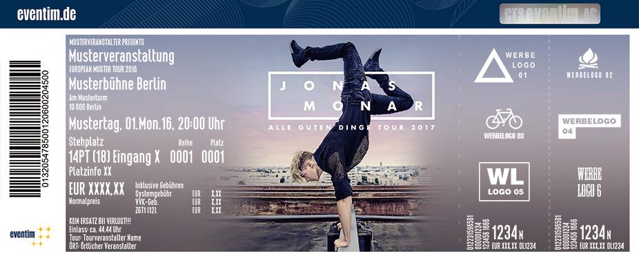 Karten für Jonas Monar: Alle Guten Dinge Tour 2017 in Hamburg