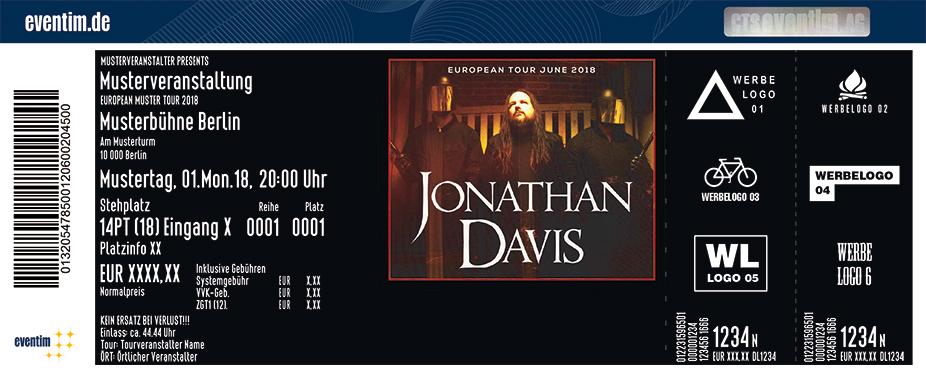 Jonathan Davis Karten für ihre Events 2018