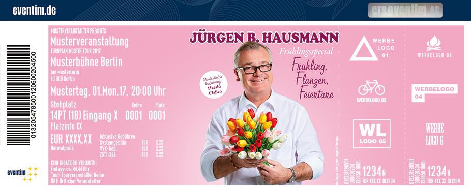 Jürgen B. Hausmann Karten für ihre Events 2018