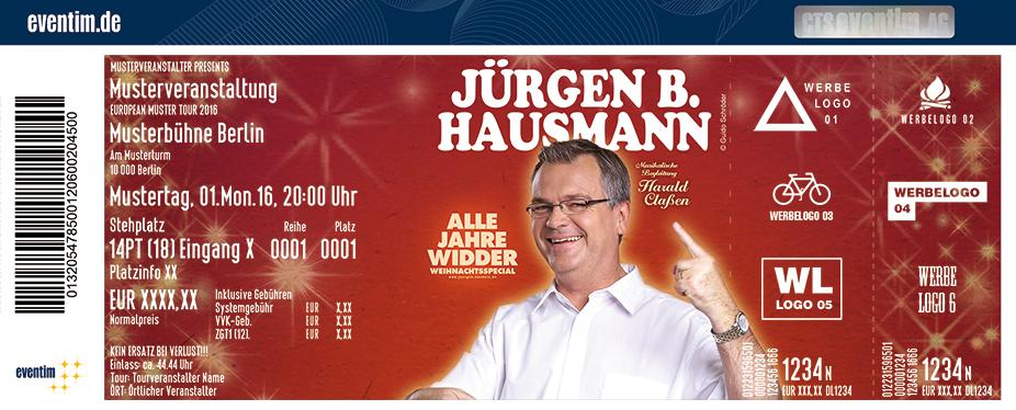 Jürgen B. Hausmann Karten für ihre Events 2017