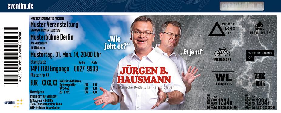 Karten für Jürgen B. Hausmann: Wie jeht et? Et jeht! in Neunkirchen/ Saar