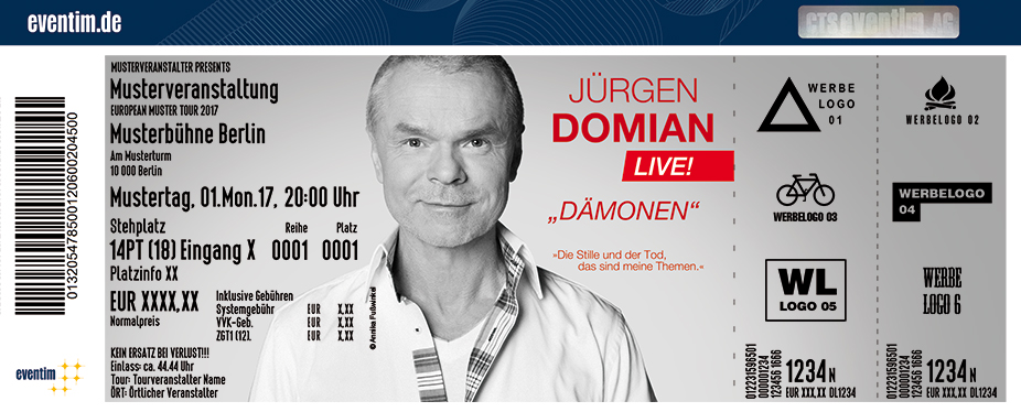 Jürgen Domian Karten für ihre Events 2017
