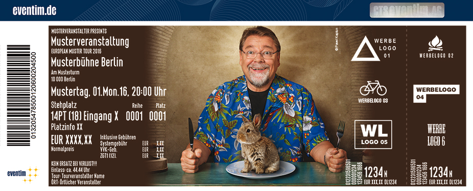 Karten für Jürgen von der Lippe: Der König der Tiere - Neues Lesungsprogramm in Aue
