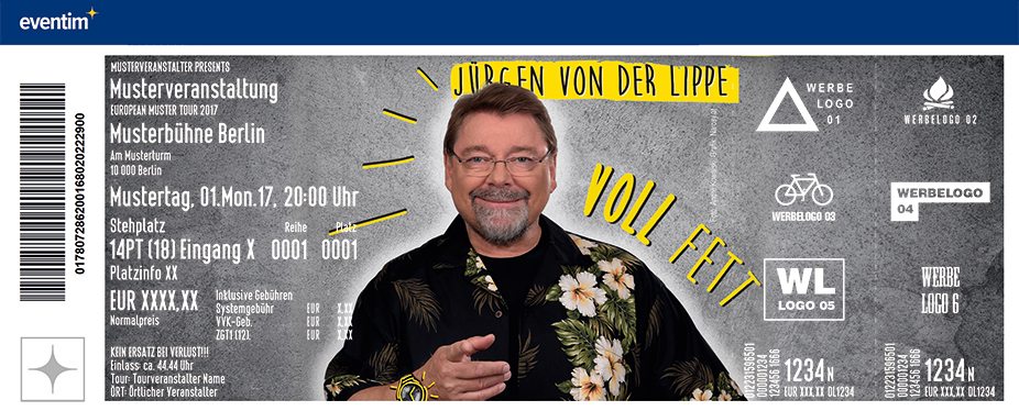 Karten für Jürgen von der Lippe: Voll Fett - Neues Programm in Lampertheim