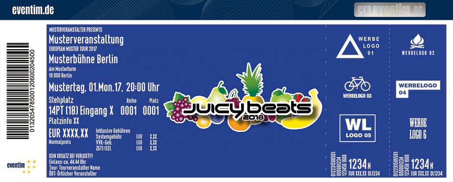 Juicy Beats Karten für ihre Events 2018