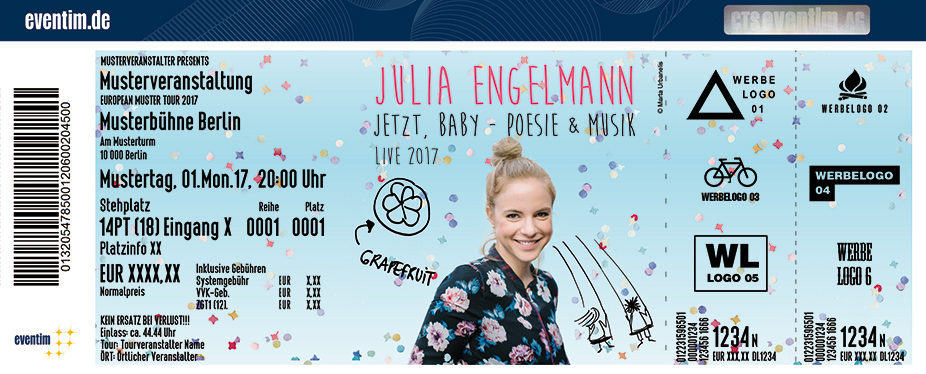 Karten für Julia Engelmann: Jetzt, Baby - Poesie und Musik in Frankfurt