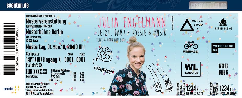 Julia Engelmann Karten für ihre Events 2018