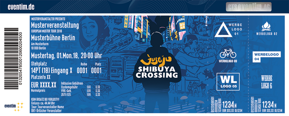 Karten für Juse Ju - Shibuya Crossing Tour in Hannover