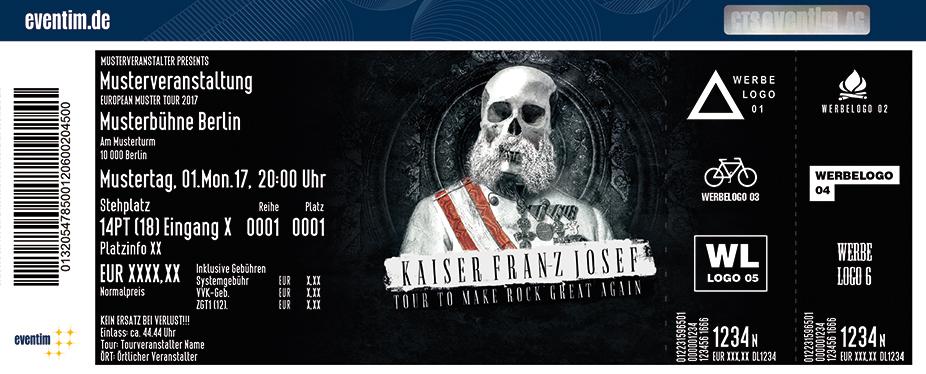 Karten für Kaiser Franz Josef in Berlin