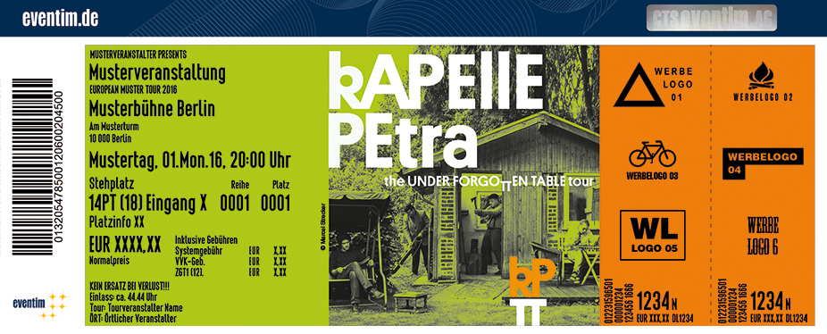Karten für Kapelle Petra: The Underforgotten Table Tour 2017 in Aachen
