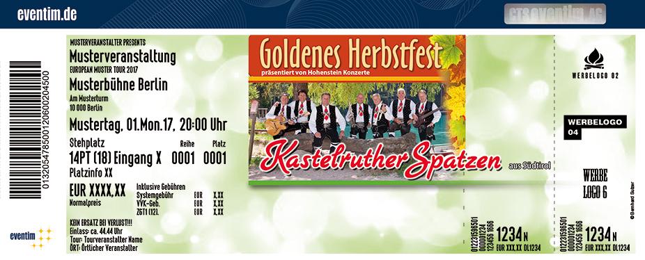 Karten für Kastelruther Spatzen: Goldenes Herbstfest 2018 in Neustadt An Der Weinstrasse