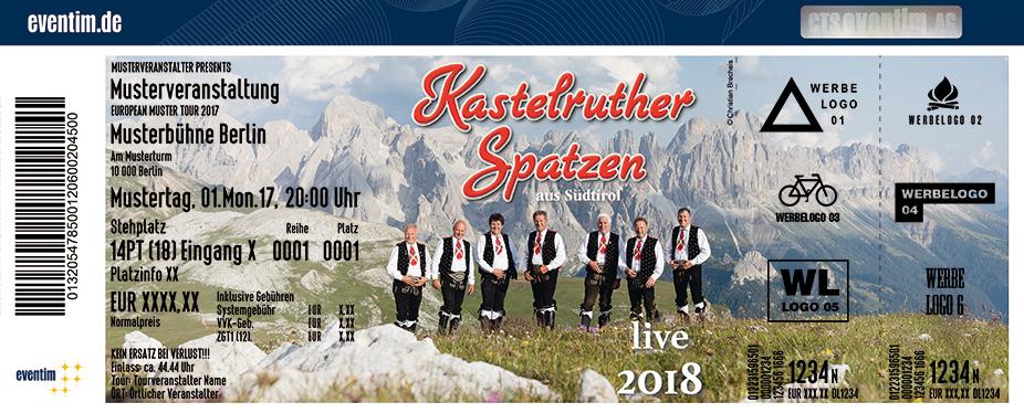 Karten für Kastelruther Spatzen - Das Konzert zum neuen Album! -  live 2018 in Bamberg